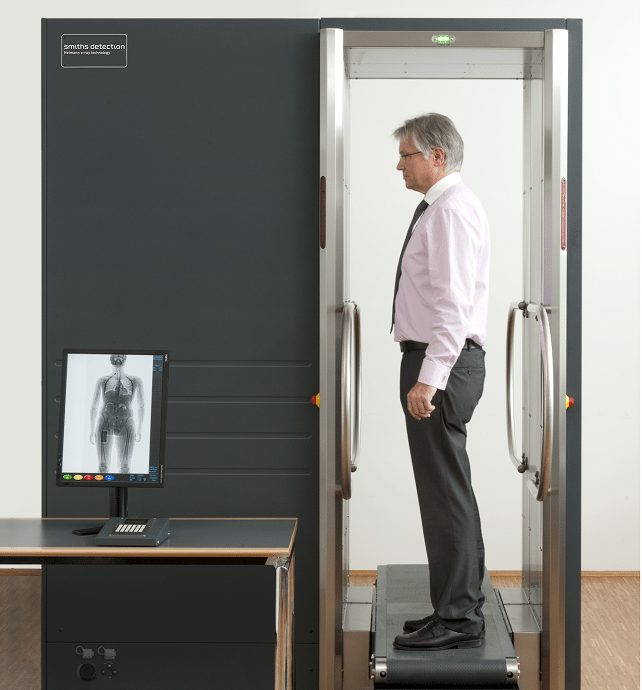B-Scan Security X-ray body scanner